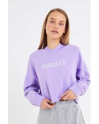 Truly Madly Deeply - Spoiled Cropped Hoodie Sweatshirt - Lyst