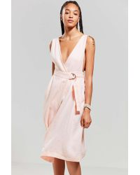 Nice Martin - Vince Plunging Wrap Dress - Lyst