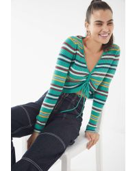 Urban Outfitters - Uo Cinch-front Striped Sweater - Lyst