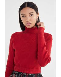 Urban Renewal - Recycled Cropped Turtleneck Sweater - Lyst