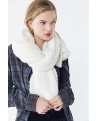 c5d0eef3a83 Lyst - Urban Outfitters Raw-edge Jersey Scarf in Natural