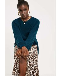 Lyst Urban Outfitters Uo Fluffy Fisherman Sweater In Green