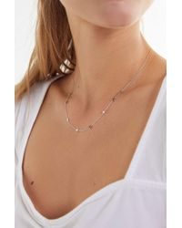 Urban Outfitters Mini Star Charm Necklace - Multicolour
