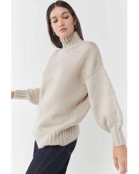 ada2fd29495f Lyst - Urban Outfitters Uo Kassi Striped Turtleneck Sweater in Blue