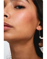 Estella Bartlett - Black Enamel Dot Drop Star Earrings - Womens All - Lyst