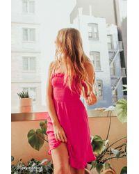 Urban Outfitters - Uo Sabrina Gauze Smocked Mini Dress - Lyst
