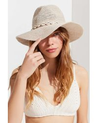 Urban Outfitters - Pucca Shell Nubby Woven Panama Hat - Lyst