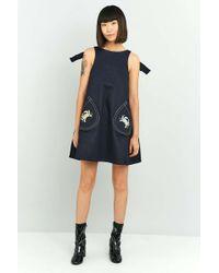 Angel Chen - Embroidered Denim Dress - Lyst