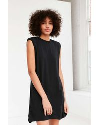 c986b1b88448ba Silence + Noise - Rolled Cuff Shoulder Pad Muscle Tee Dress - Lyst