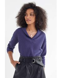 Urban Outfitters - Uo Slow Things Down Shawl Sweater - Lyst