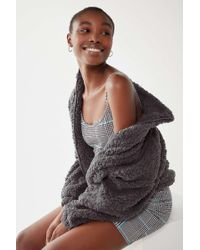 Urban Outfitters - Uo Willow Fuzzy Drawstring Jacket - Lyst
