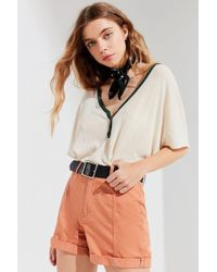 Urban Outfitters - Uo Modern Twill High-rise Short - Lyst