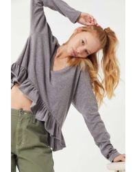 Truly Madly Deeply - Long Sleeve Peplum Top - Lyst