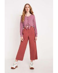 BDG - Pink Corduroy Paperbag Waist Trousers - Womens Xs - Lyst