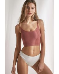 """Out From Under - Nahtloses, geripptes Camisole """"Markie"""" - Lyst"""
