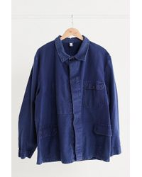 Urban Outfitters - Vintage Indigo French Workwear Jacket - Lyst