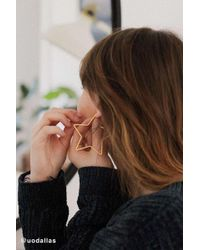 Urban Outfitters - 18k Gold-plated Star Hoop Earrings - Womens All - Lyst