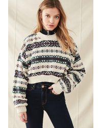 Urban outfitters Classic Fair Isle Sweater in Green | Lyst