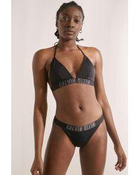 34ec373d5e Calvin Klein - Intense Power Black Brazilian Bikini Bottoms - Womens Xs -  Lyst