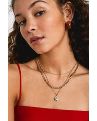 Urban Outfitters - Gold Coin Charm Triple Layer Necklace - Womens All - Lyst
