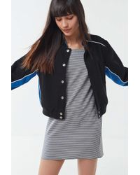 Urban Outfitters - Uo Colorblock Cropped Bomber Jacket - Lyst