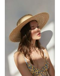 1f7db7d0a55 Lyst - Ecote Geo Straw Packable Boater Hat in Natural
