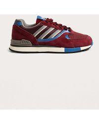Adidas originali quesence maroon formatori in rosso per gli uomini lyst