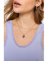 Urban Outfitters - Semi-precious Prism Pendant Necklace - Lyst