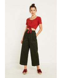 BDG - Green Contrast Workwear Carpenter Culottes - Lyst