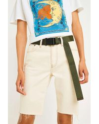 Urban Outfitters - Uo Military Webbed Green Seatbelt Belt - Lyst
