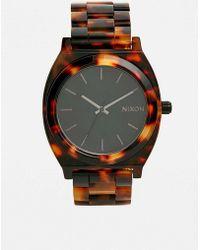 Nixon - Time Teller Tortoiseshell Acetate Watch - Womens All - Lyst