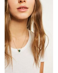 Urban Outfitters - Semi Precious Hexagon Pendant Necklace - Lyst