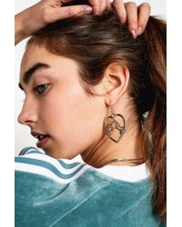 Urban Outfitters - Heart + Parrot Gold Earrings - Lyst