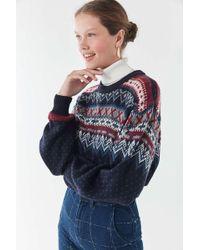 Urban Renewal - Remade Fair Isle Cropped Sweater - Lyst