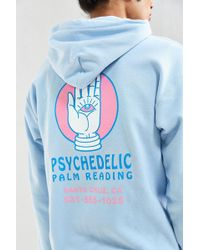 Urban Outfitters - Psychedelic Palm Reader Hoodie Sweatshirt - Lyst