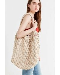 Urban Outfitters - Macrame Slouchy Tote Bag - Lyst