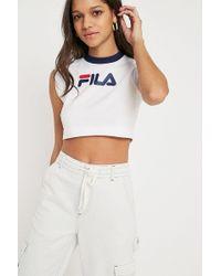 Fila | Pia Archive Crop T-shirt | Lyst