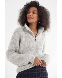 Urban Outfitters - Uo Fisherman Oversized Quarter-zip Sweater - Lyst