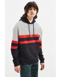 Urban Outfitters - Uo Colorblocked Stripe Hoodie Sweatshirt - Lyst