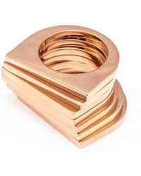Uncommon Matters - Linear Rose Ring Set - Lyst