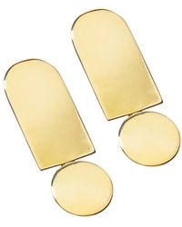 Uncommon Matters - Inversion Gold Plated Earrings - Lyst