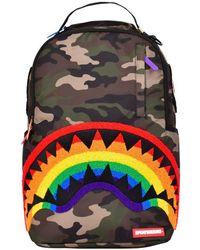Sprayground - Chenille Shark Rainbow Backpack - Lyst