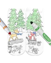 Living Royal - Woodland Holiday Party Color-in Socks - Lyst