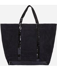 Vanessa Bruno - Medium + Nubuck Leather And Sequins Cabas Tote Bag - Lyst
