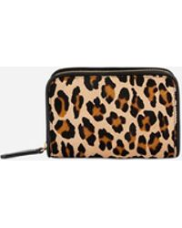c21afe15dc93b Vanessa Bruno - Medium Calf Leather Charly Wallet With A Leopard Effect And  Smooth Leather -