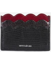 Vanessa Bruno - Small Leather Flat Card Holder With A Lizard Effect - Lyst
