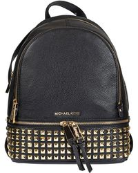 befd8d26d706 MICHAEL Michael Kors - Rhea Zip Studded Leather Backpack - Lyst