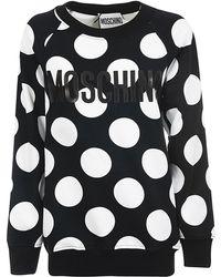 Moschino - Polka Dot Print Sweatshirt - Lyst
