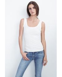 Velvet By Graham & Spencer - Mossy Gauzy Whisper Tank - Lyst