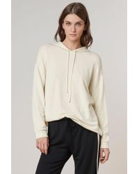 Velvet By Graham & Spencer - Shira Luxe Fleece Oversized Tape Hoodie - Lyst